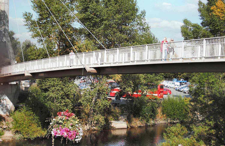 Frankwell Footbridge Walking Route