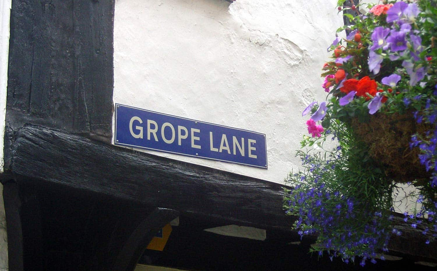 Grope Lane in Shrewsbury