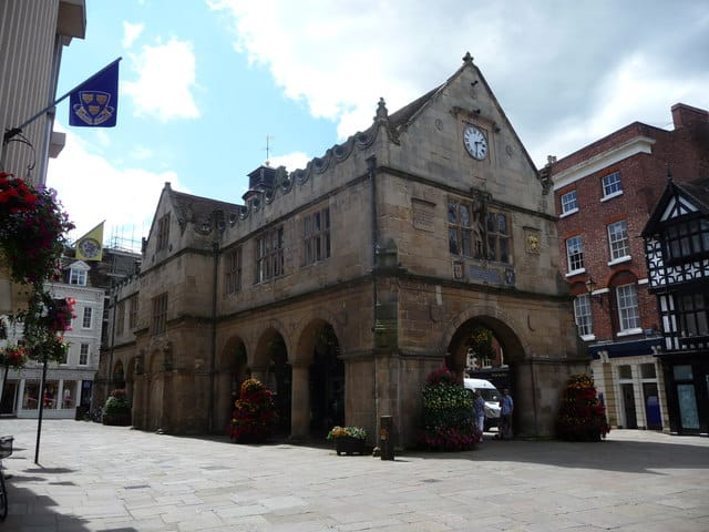 Old Market Hall in Shrewsbury