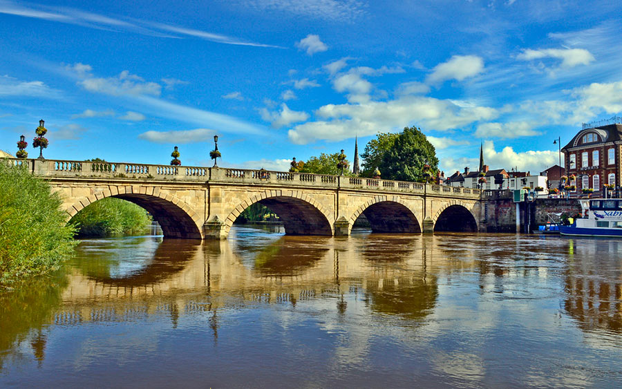 Welsh Bridge in Shrewsbury