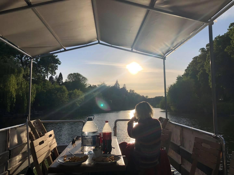 Picnic Boat Sunset