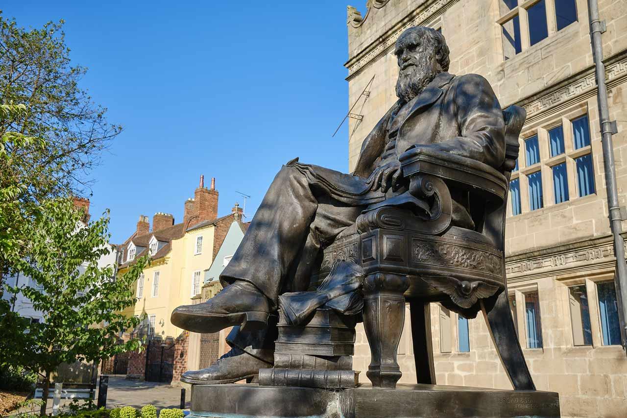 Charles Darwin Statue Shrewsbury